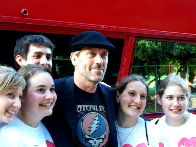 Hugh with Fans