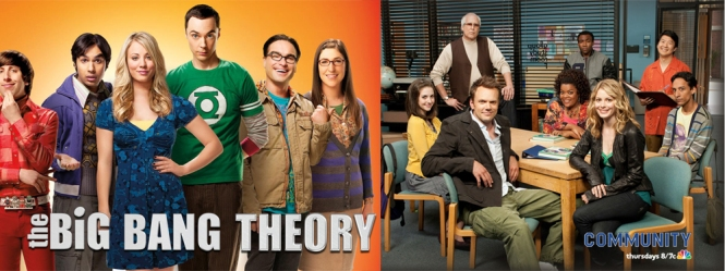 The Big Bang Theory vs Community copy