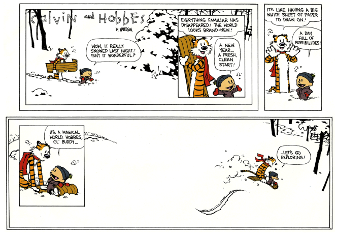 Exploring - Calvin and Hobbes