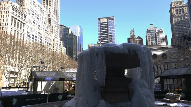 Bryant Park Frozen Fountain