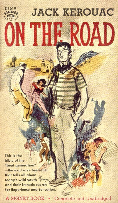 On the Road 1st Paperback Edition Cover (1958)