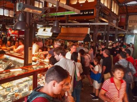 Crowds at Mercado de San Miguel